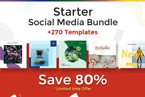 80% OFF! Starter Social Media Bundle