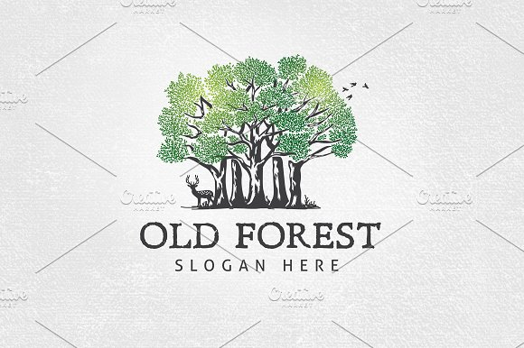 old forest logo template logo templates creative market