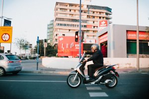 blurred streets