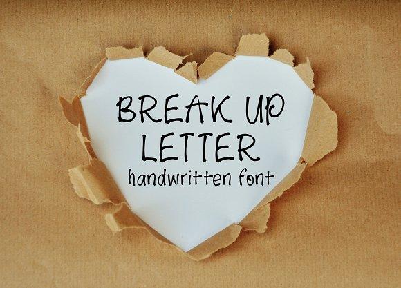 Break Up Letter Font
