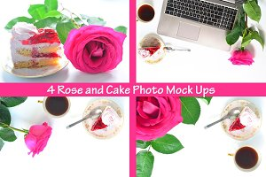 Rose and Cake 4 Mock Ups