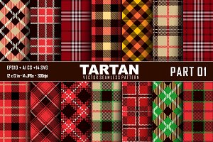 Seamless Tartan Pattern Part-01