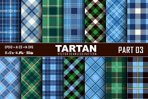 Seamless Tartan Pattern Part-03