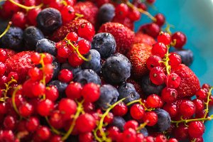 Organic summer berries