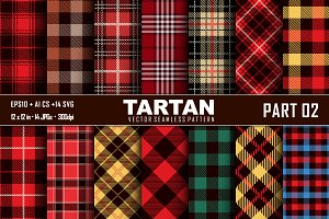 Seamless Tartan Pattern Part-02
