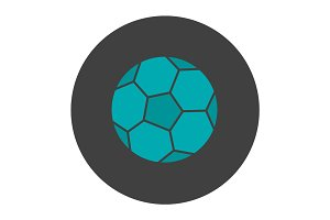 Soccer ball glyph color icon