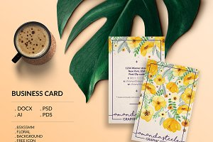Floral business card template / N
