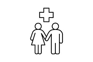 Family doctor linear icon