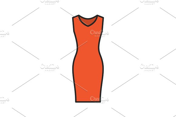 Evening Dress Color Icon
