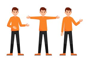 character hand gestures presentation