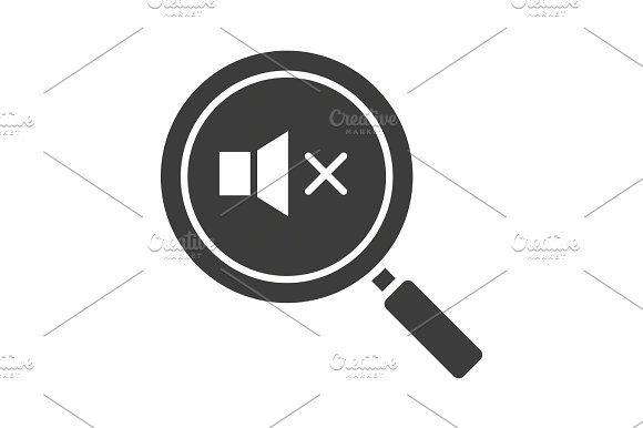 Magnifying Glass With Loudspeaker Glyph Icon