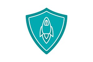 Startup projects protection glyph color icon