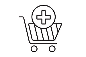 Drugstore shopping linear icon