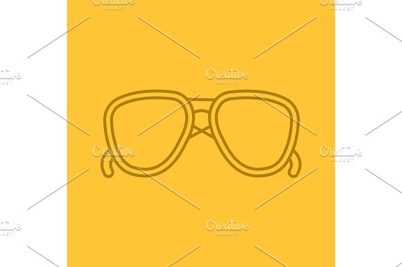 Sunglasses Color Linear Icon