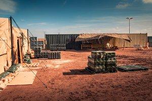 Marine military camp