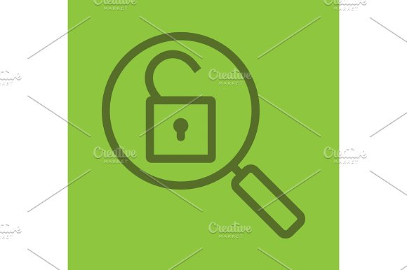 Password Search Color Linear Icon