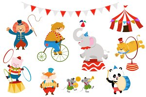 Cute Circus Animal Set