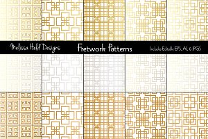 Metallic Fretwork Patterns