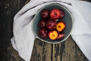 Fresh orgaic plums