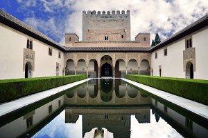 Palacio Nazaries, Alhambra, Granada,