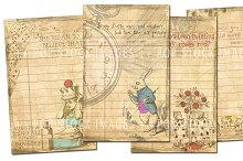 Wonderland Retro Journaling Cards