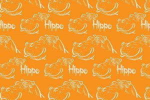 Hippo orange pattern