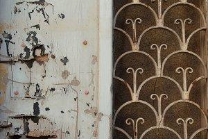 Old Door Rusty Pattern
