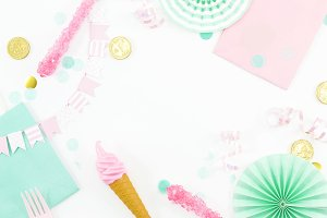 Mint & Pink Party 2 Flat Lay Photo