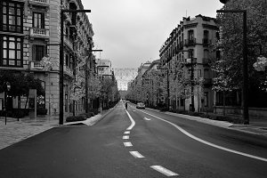 Gran Via Street, Granada center