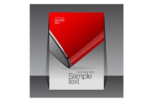 Red and gray design template cover