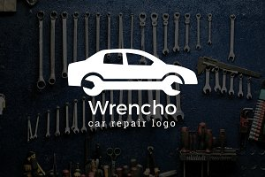 Wrencho : Car / Auto Repair Logo