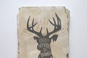 Wilderness quote on deer silhouette