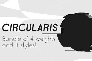 Circularis /family of 8 fonts/