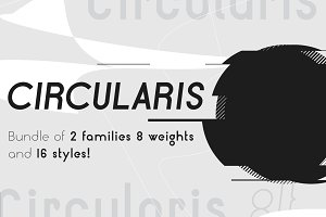 Circularis /bundle of 16 fonts/