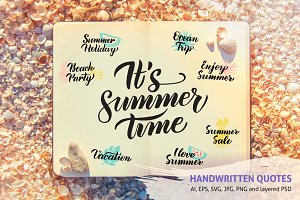 Summer Handwritten Quotes