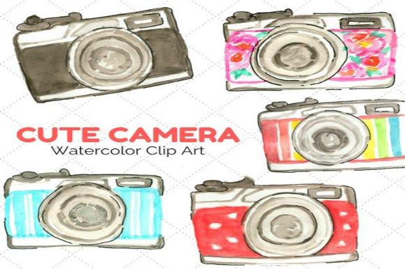 Cute Watercolor Cameras