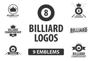 Billiard logos