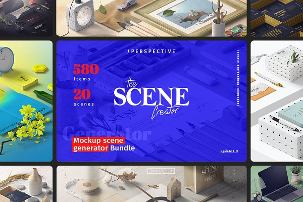 The Scene Creator | Perspective PSD Mockup - Packaging