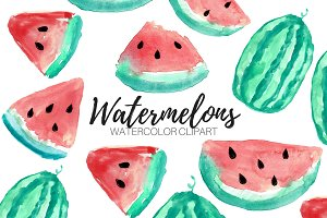 Watercolor Fruit Watermelon