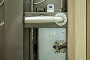 Mechanism of armored door