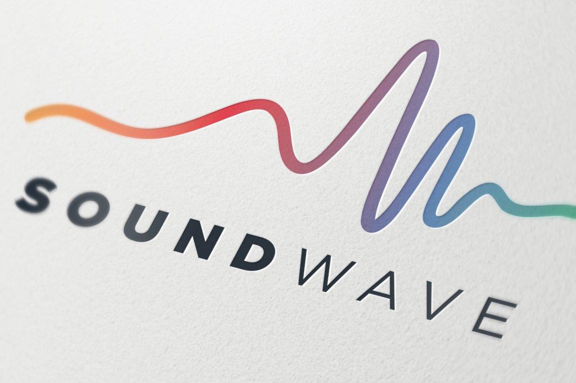 creative audio wave symbol logo templates creative market