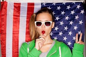 The patriotic girl