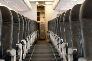 Interior an empty plane