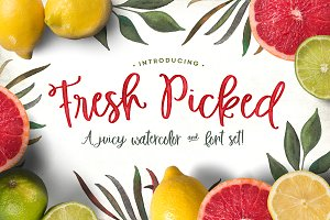 Fresh Picked Watercolor & Font Kit