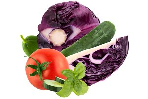 fresh ripe vegetables isolated