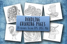Doodling Coloring Pages