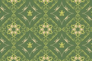 Seamless pattern Green Wallpaper