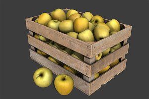 Crate with Yellow Apples