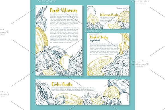 Exotic Tropical Fruit Poster Template Design