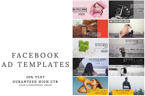 facebook ad templates vol 2 facebook templates creative market